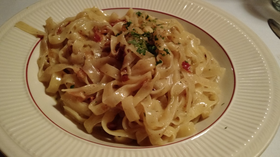 Pasta Carbonara from Cafe Capriccio