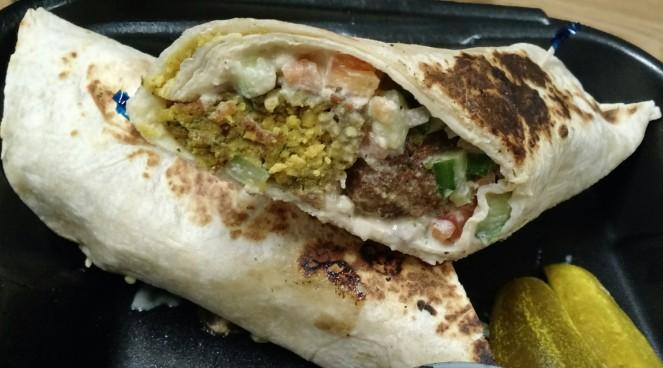 Falafel Wrap at Saati Deli