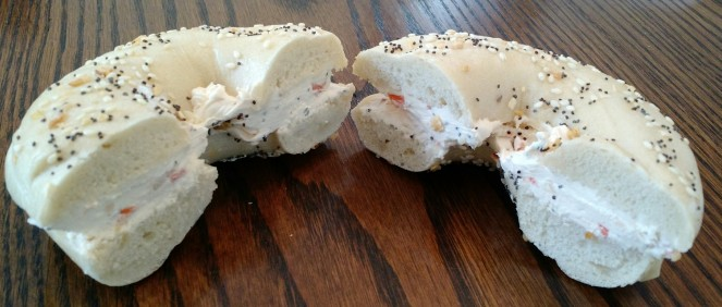Everything Bagel with Veggie Cream Cheese from Psy