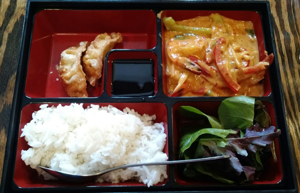 Red Curry Shrimp Bento Box at TapAsia