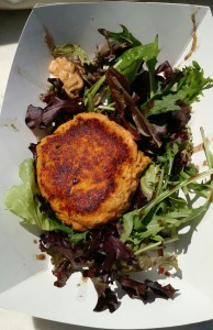 Sweet Potato and Salmon Burger from Fin