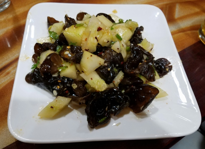 Cucumber with Black Fungus at Northeast Dumplings House
