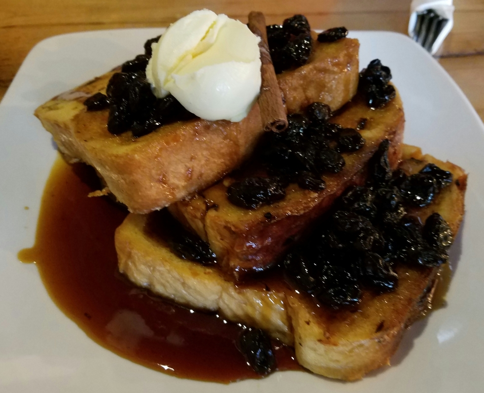 Rum Raisin French Toast at The Shop
