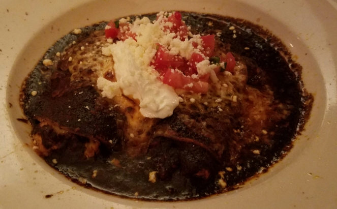 Chicken Enchiladas with Mole Sauce at Destino