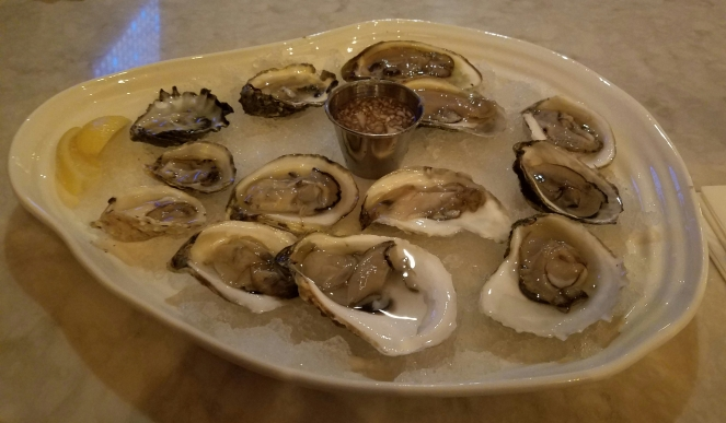 Oyster Sampler at Plumb Oyster Bar