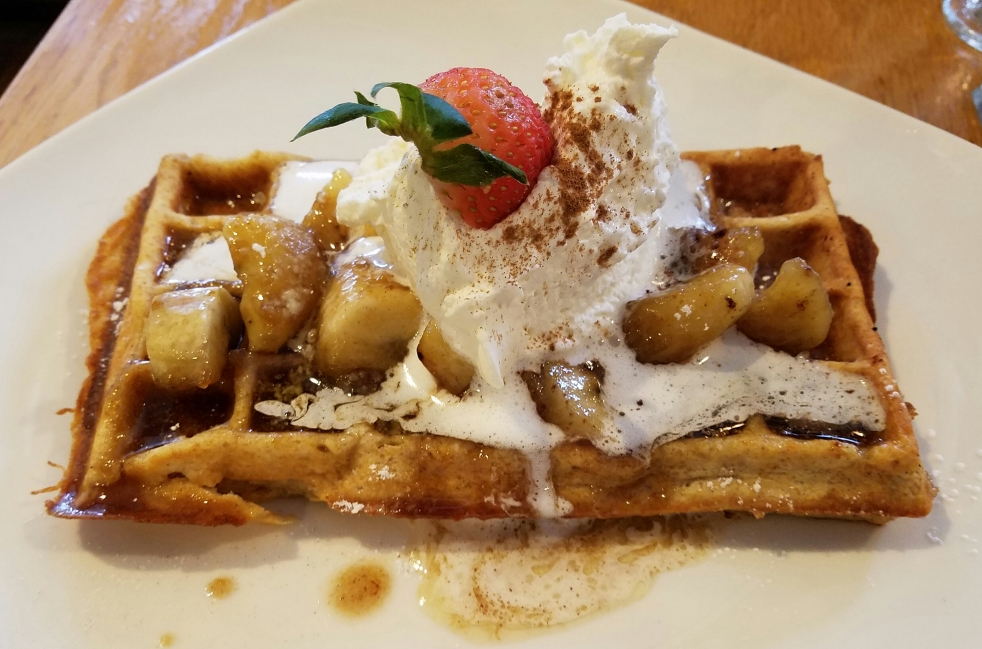Bananas Foster Waffle at Iron Roost