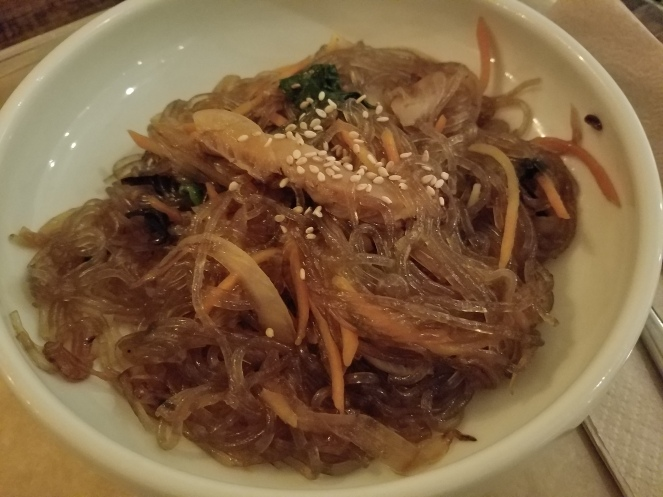 Japchae Noodles at Sunhee's Farm and Kitchen