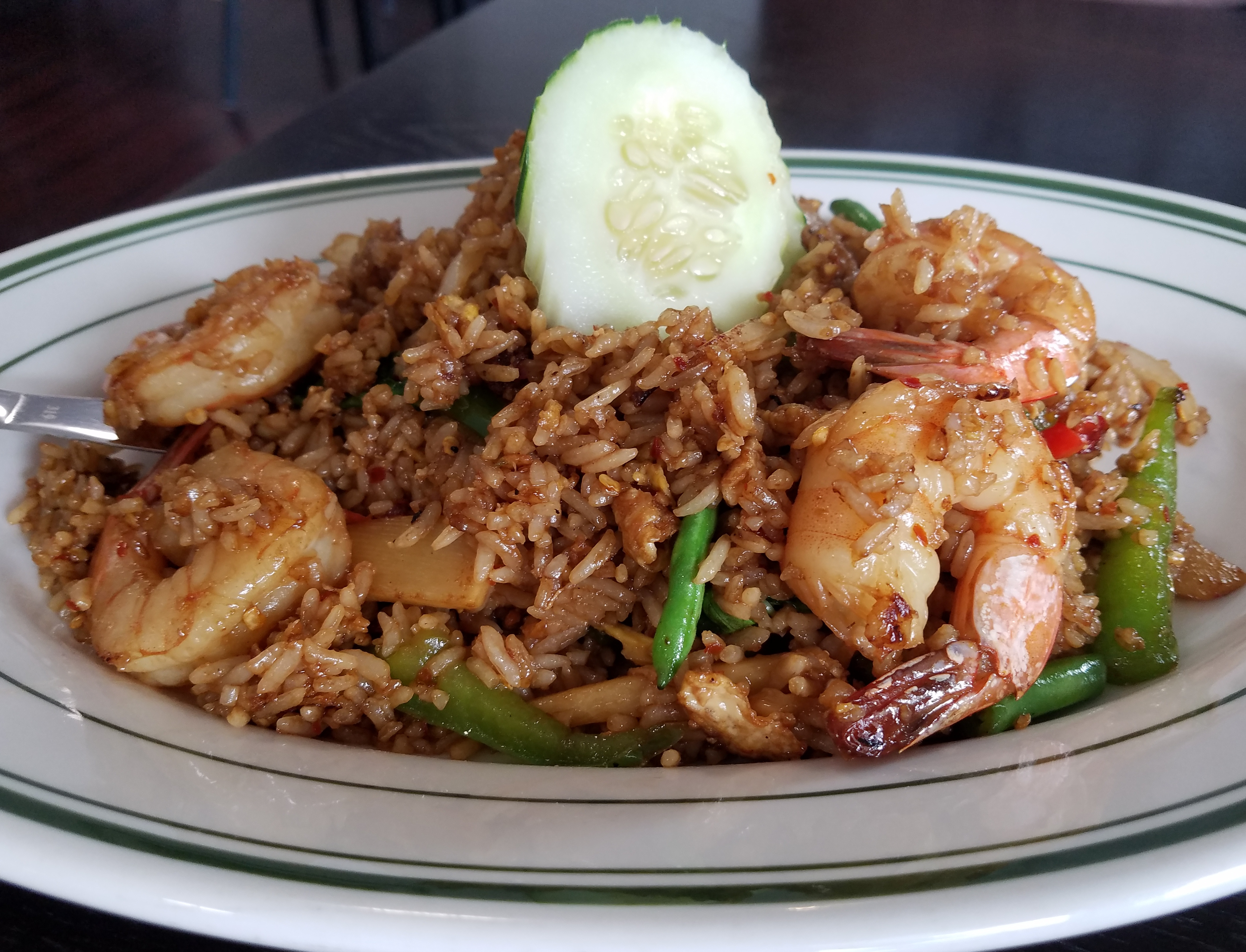 Spicy Fried Rice With Shrimp At Celadon Thai