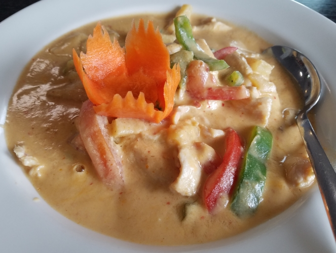 Pineapple Red Curry with Chicken at Celadon Thai
