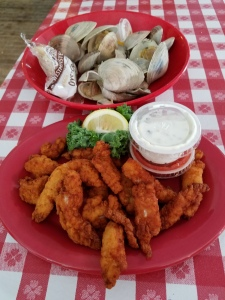 Steamed Clams and New England Style Fried Clams at Kay's