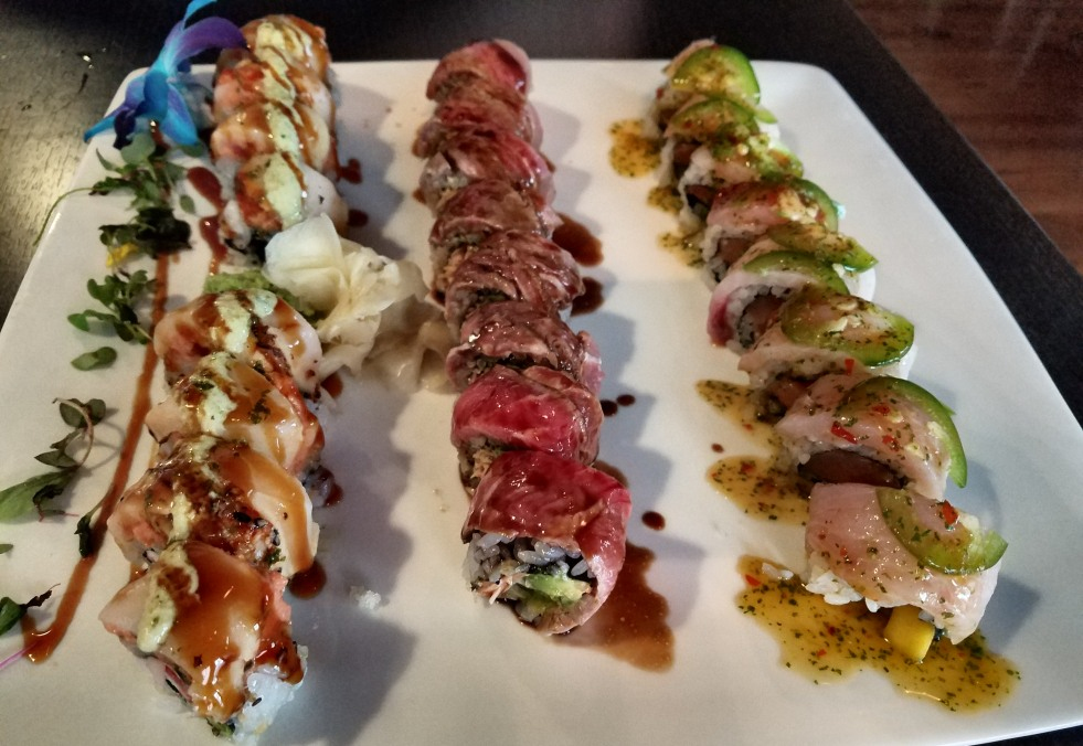 Diablo, Transformer, and Congress Rolls at Unagi Sushi