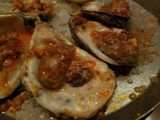Chili Garlic Grilled Oysters at Cochon