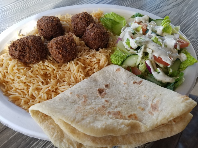 Falafel Rice Plate at Zaitoon Kitchen