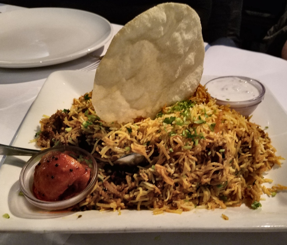 Egg Biriyani at Karavalli
